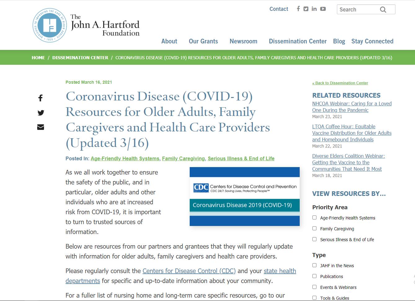 Coronavirus Disease Resources